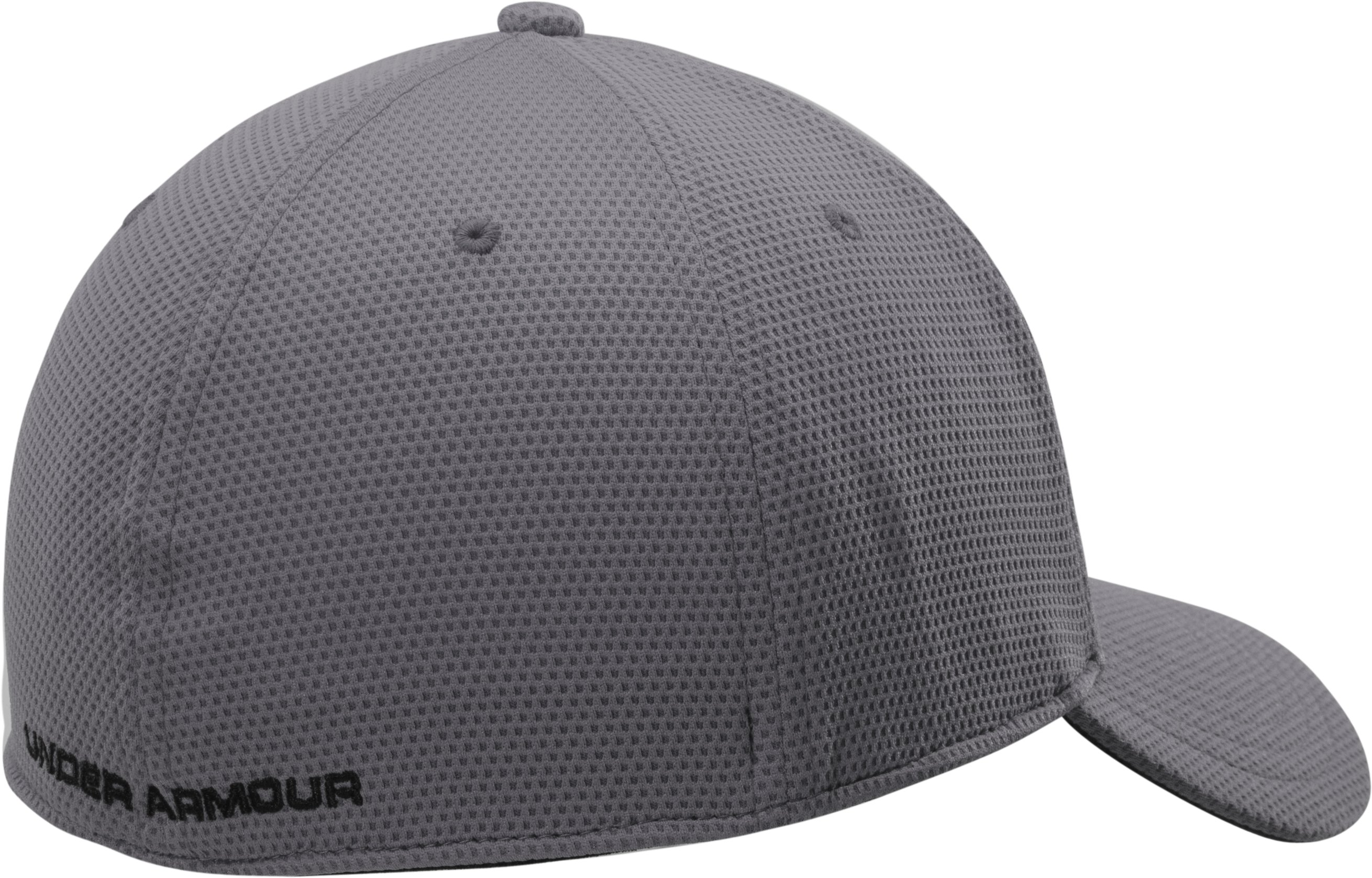 Men's UA Blitzing II Stretch Fit Cap, Graphite, undefined