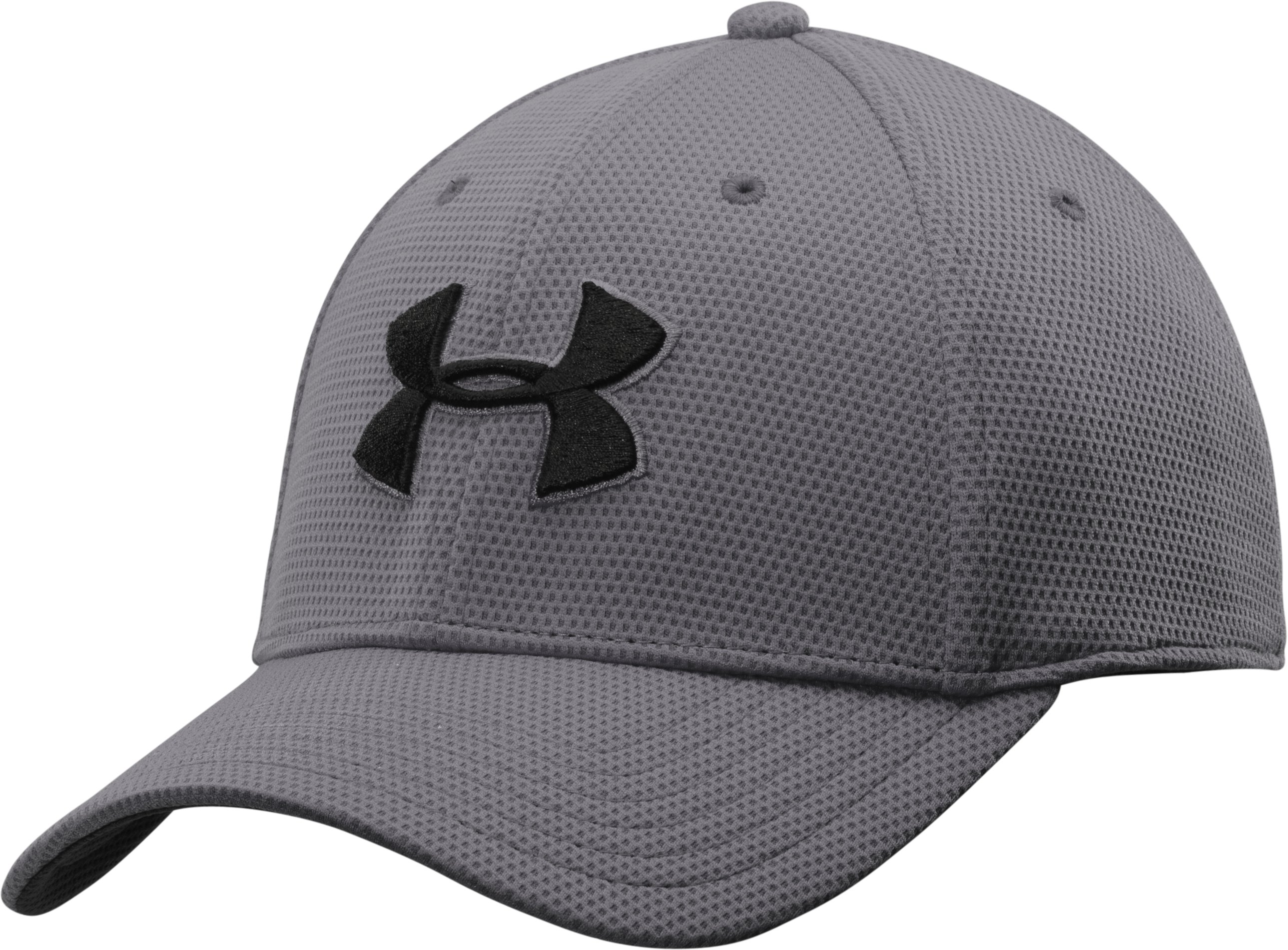 Men's UA Blitzing II Stretch Fit Cap, Graphite,