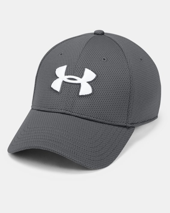 Men's UA Blitzing II Stretch Fit Cap, Gray, pdpMainDesktop image number 0