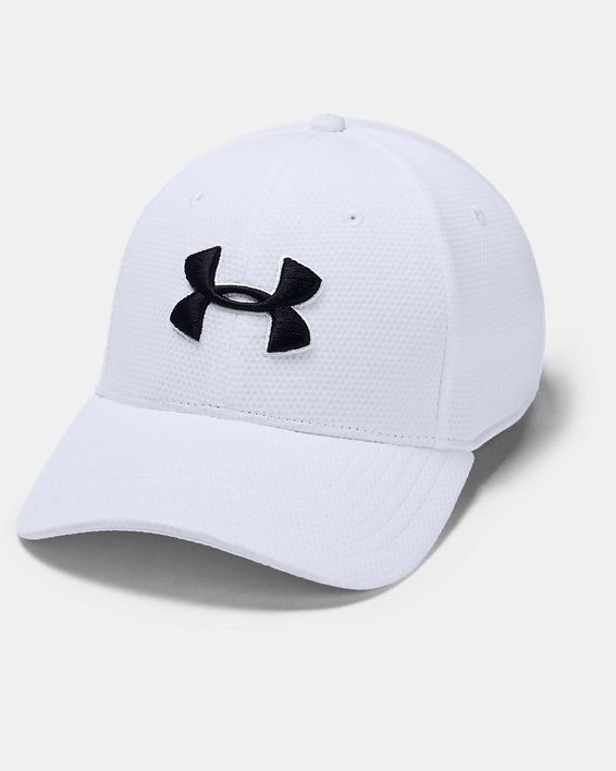 Men's UA Blitzing II Stretch Fit Cap, White, pdpMainDesktop image number 0