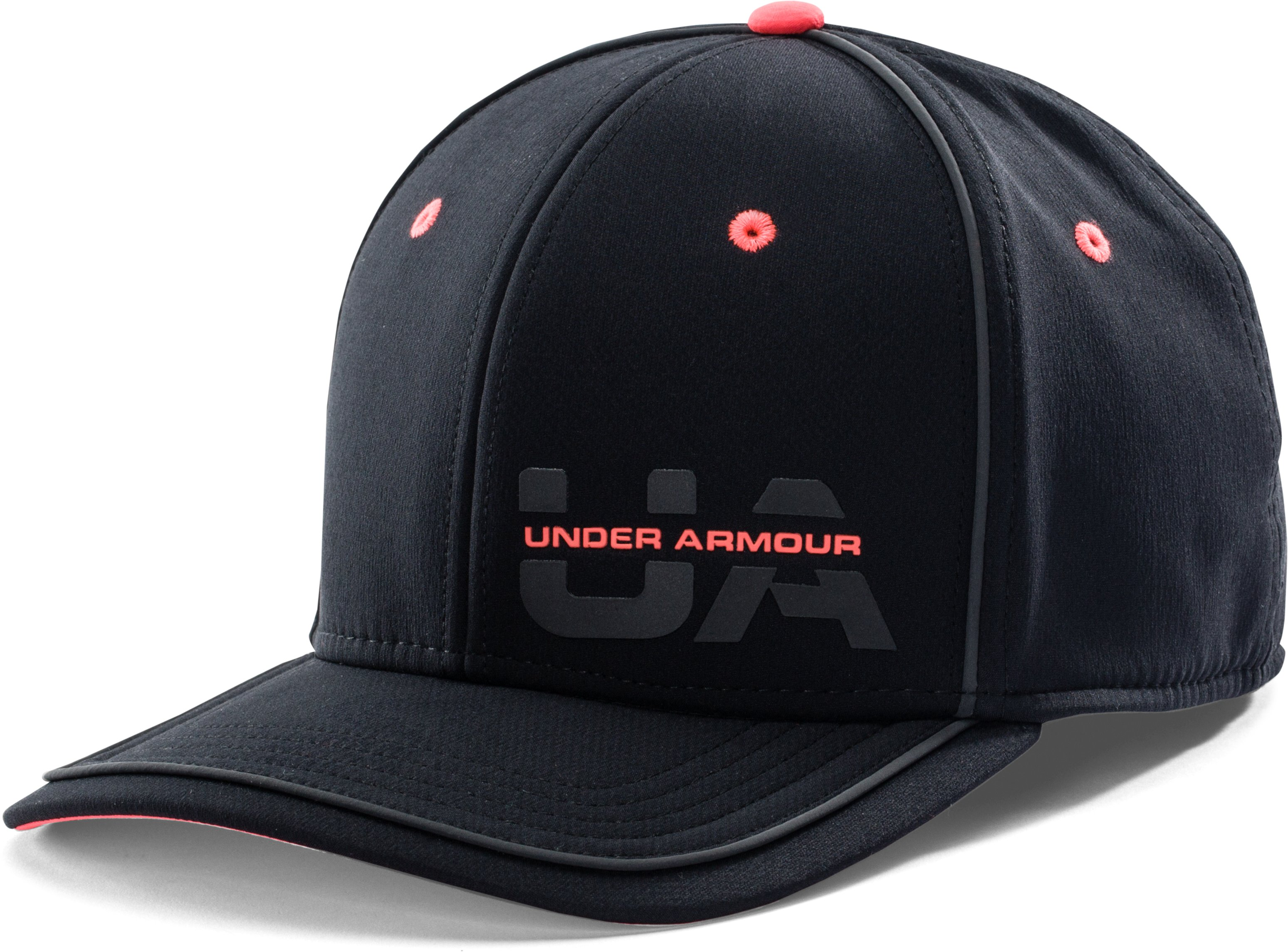 Men's UA Flash Pop Flat Brim Stretch Fit Cap, Black