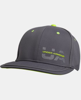Men's UA Flash Pop Flat Brim Stretch Fit Cap