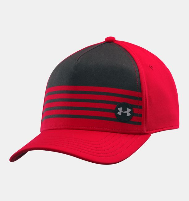 2fe06d3599d ... hat underarmour cadetmilitary 2848b b96c1  new arrivals mens ua striped  out low crown stretch fit cap red 9b212 f84e0