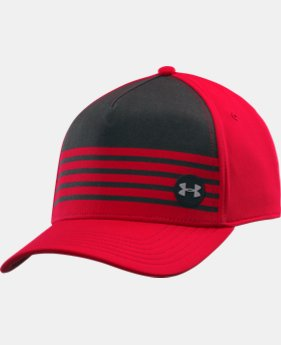 Men's UA Striped Out Low Crown Stretch Fit Cap