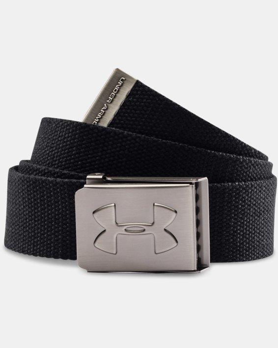 Boys' UA Webbed Belt, Black, pdpMainDesktop image number 0