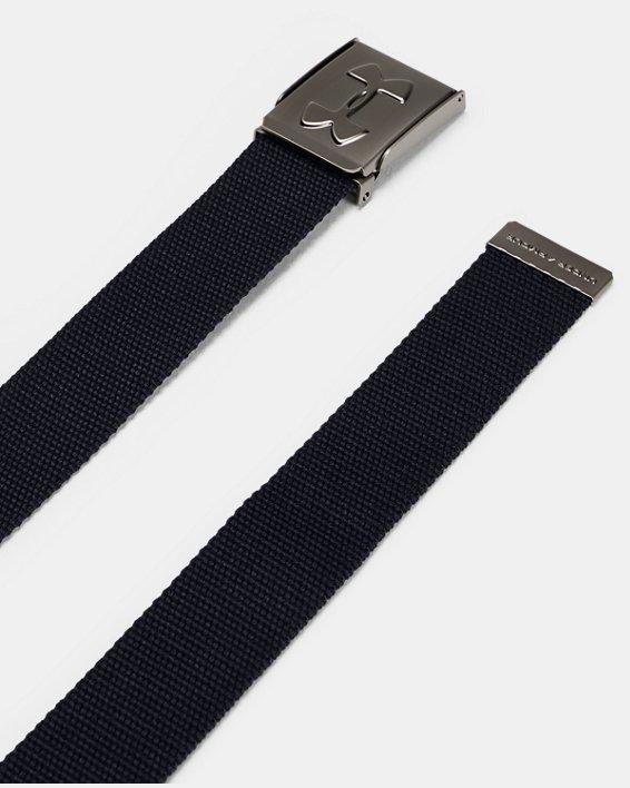 Boys' UA Webbed Belt, Black, pdpMainDesktop image number 1
