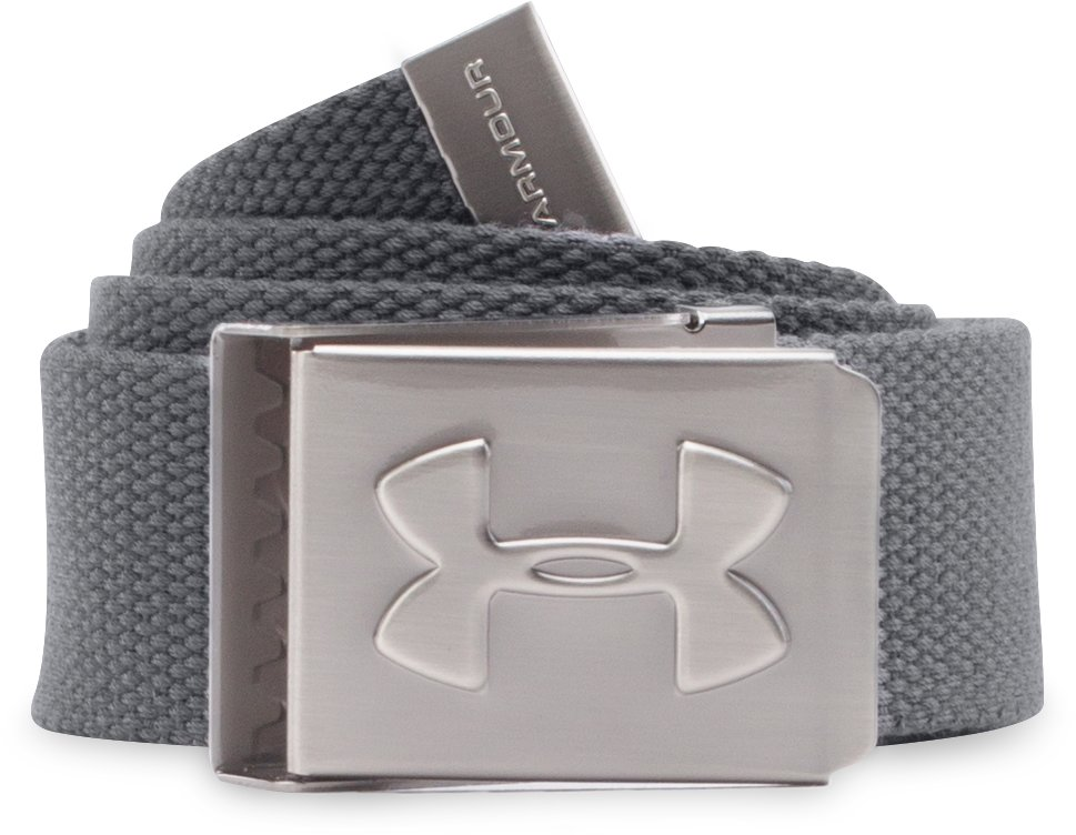 Boys' UA Webbed Belt, Graphite, undefined