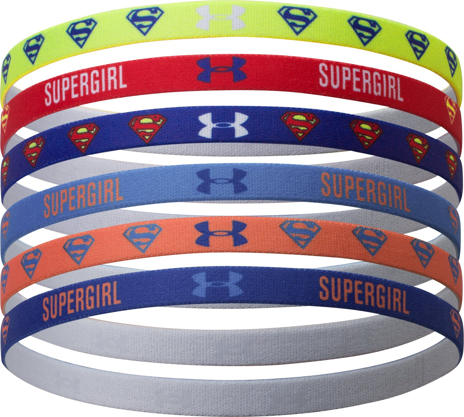 Women's Under Armour® Alter Ego Supergirl Mini Headbands, CITRUS BLAST