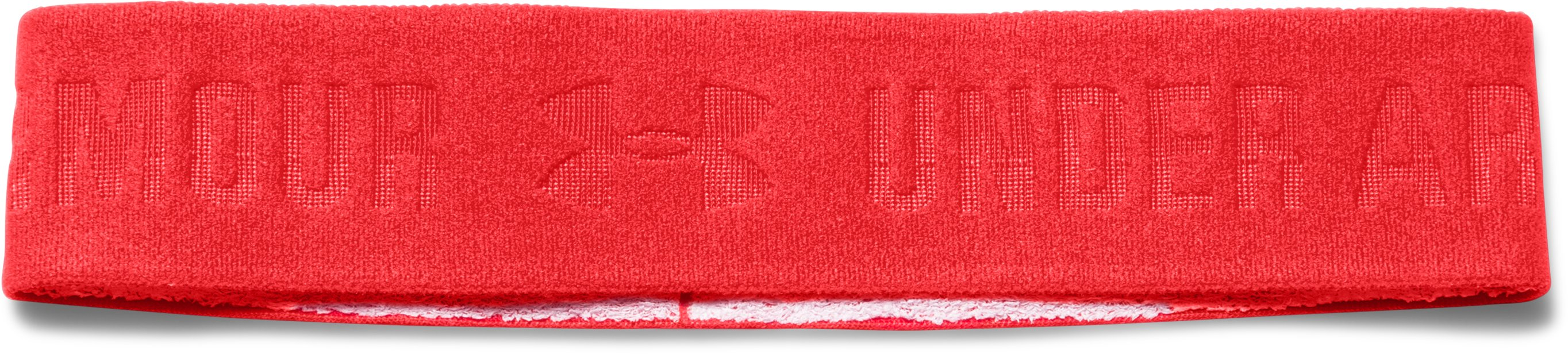 Women's UA ArmourGrip™ Wide Headband, ROCKET RED