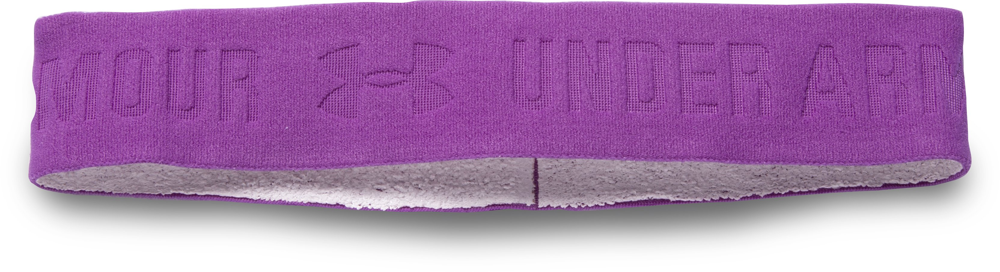 Women's UA ArmourGrip™ Wide Headband, MEGA MAGENTA