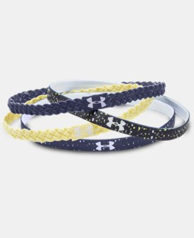 New Arrival  Women's UA Graphic Braided Headband - 4 Pack LIMITED TIME: FREE SHIPPING 1 Color $17.99