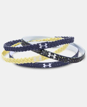 Women's UA Graphic Braided Handband - 4 Pack  1 Color $17.99
