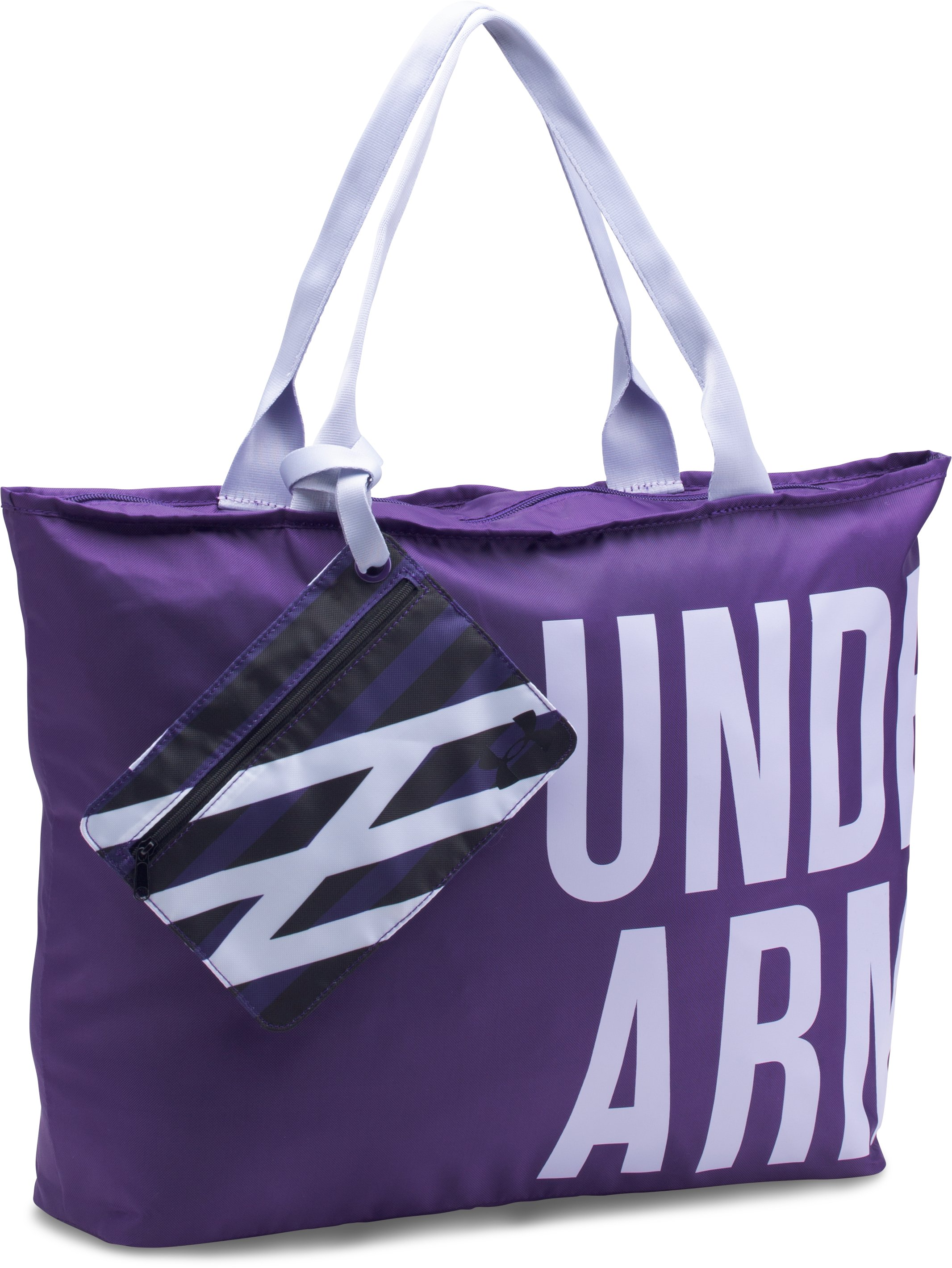 UA Big Wordmark Tote, PURPLE EMERITE, undefined