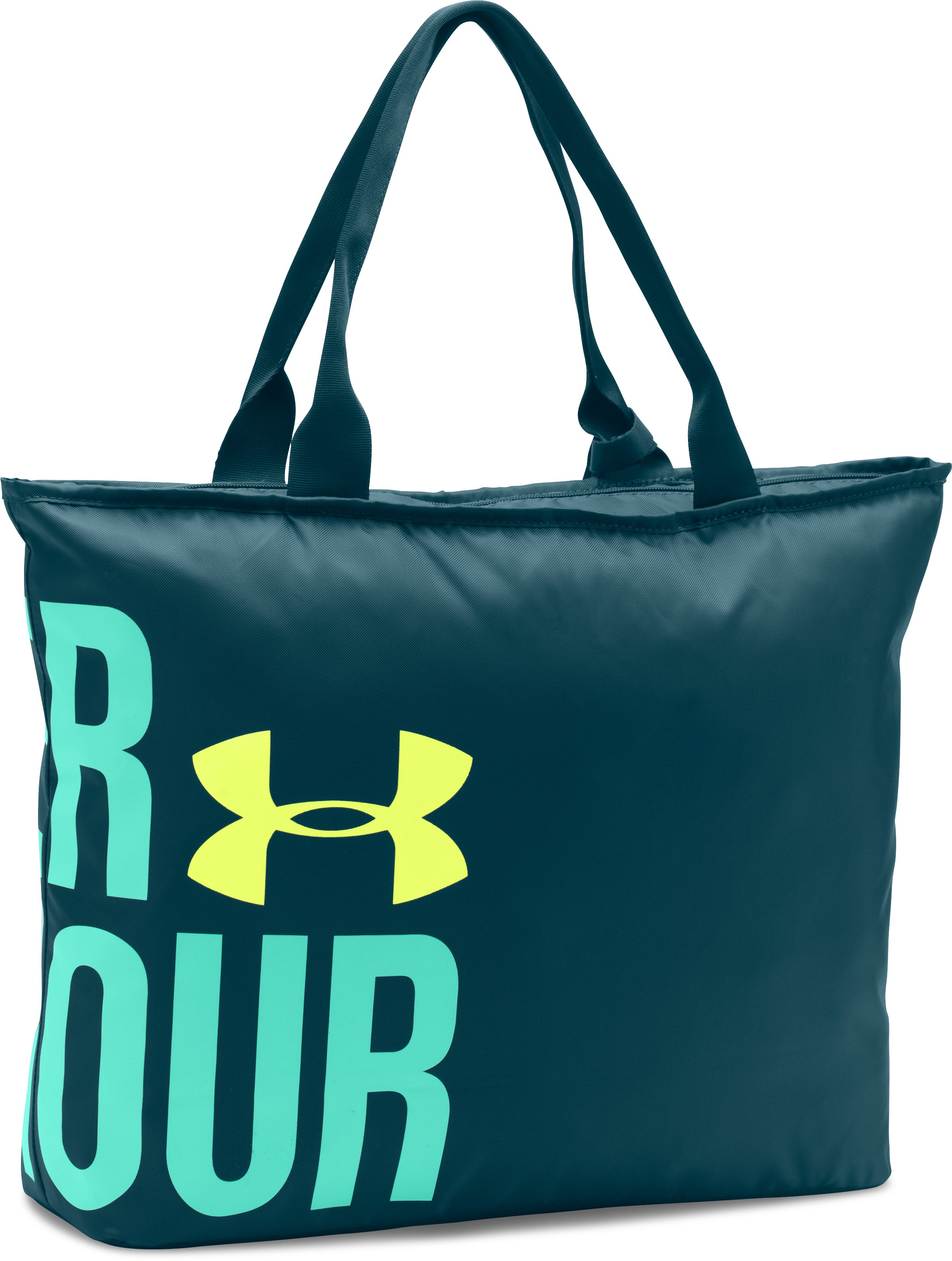 UA Big Wordmark Tote, NOVA TEAL