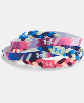 Girls' UA Graphic Elastic Headbands