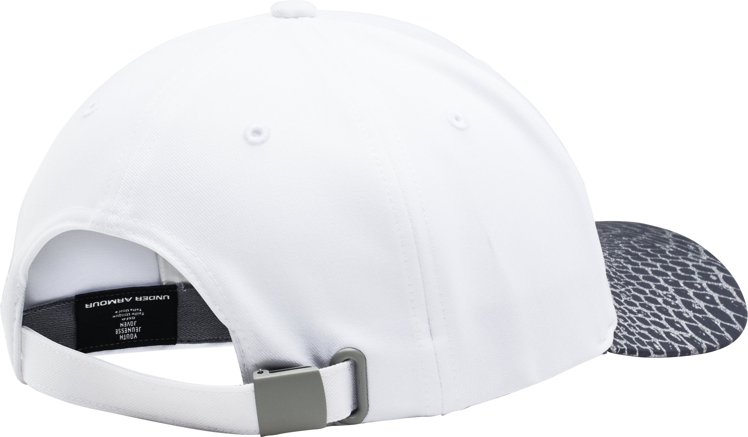 Girls' UA Big Logo Adjustable Cap, White,