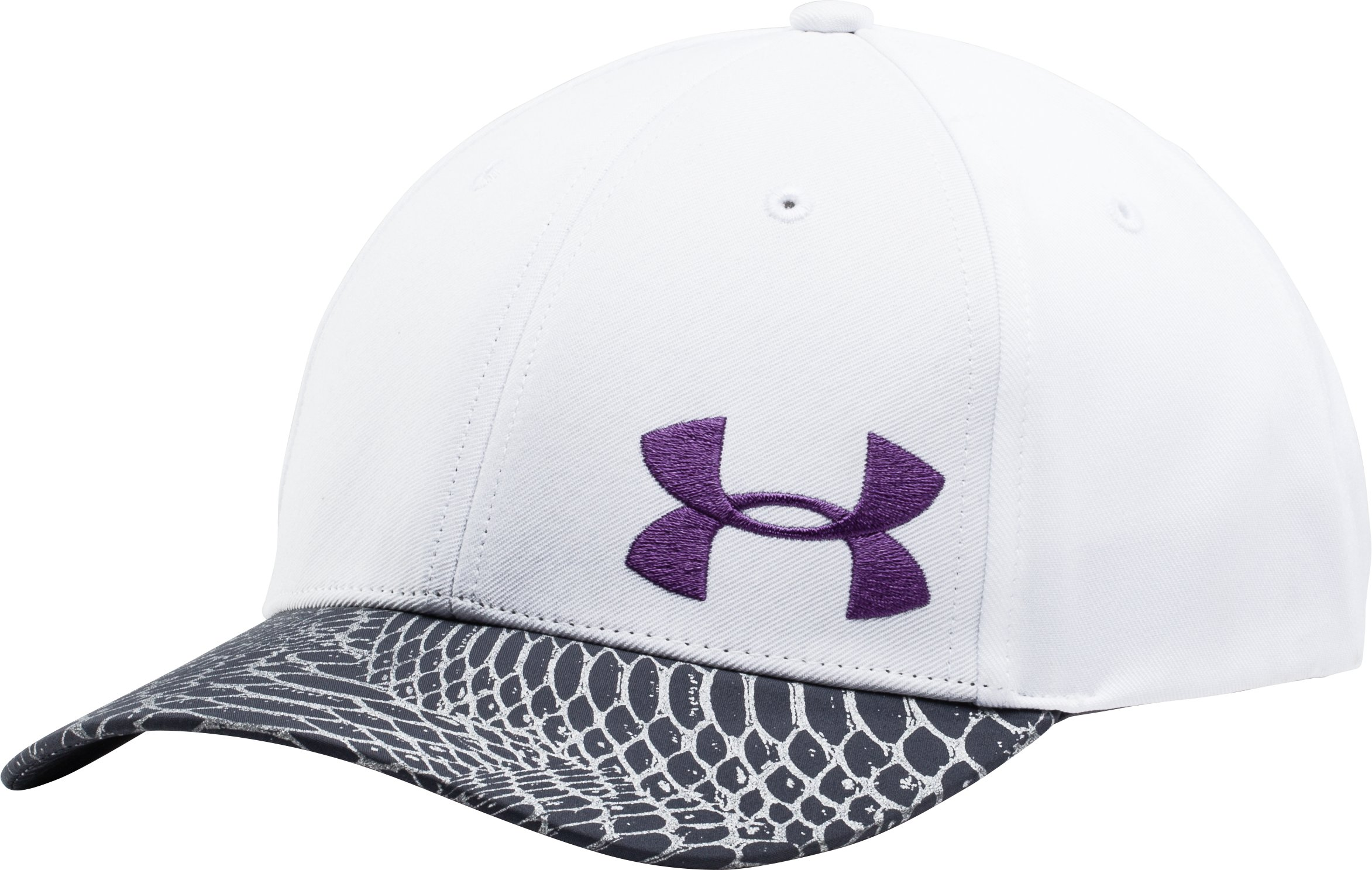 Girls' UA Big Logo Adjustable Cap, White, zoomed image