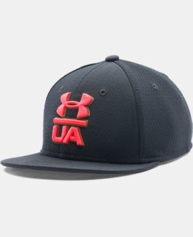 Boys' UA Eyes Up 2.0 Flat Brim Stretch Fit Cap
