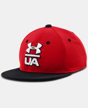 Boys' UA Eyes Up 2.0 Flat Brim Stretch Fit Cap   $14.99