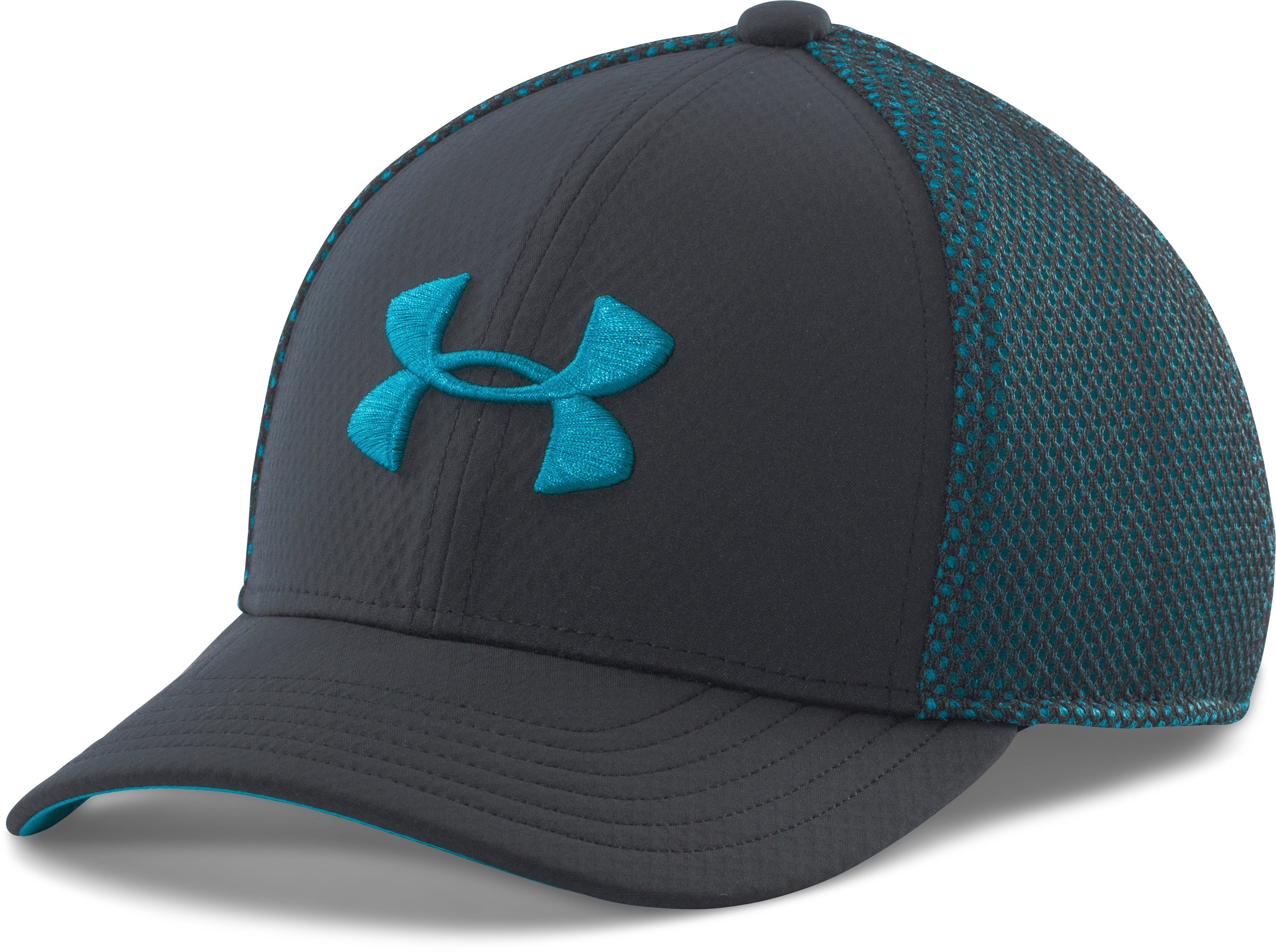 Boys' UA Classic Mesh Stretch Fit Cap, ANTHRACITE