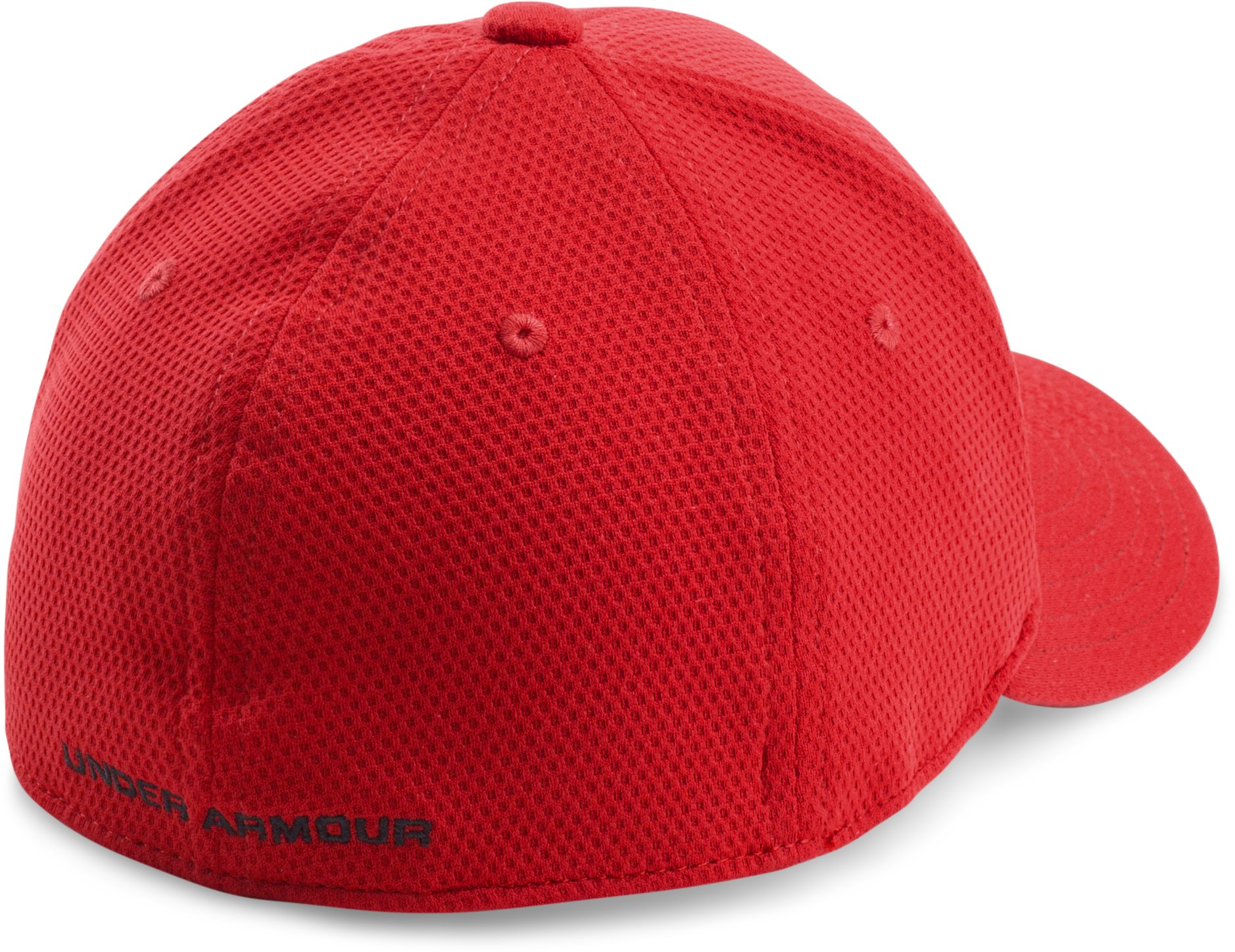 Boys' UA Blitzing II Stretch Fit Cap, Red,