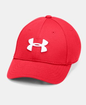 8a01aee0a58 Boys  UA Blitzing II Stretch Fit Cap 1 Color Available  22.99
