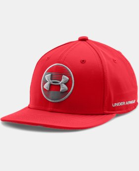 Boys' UA Strapped In Flat Brim Cap