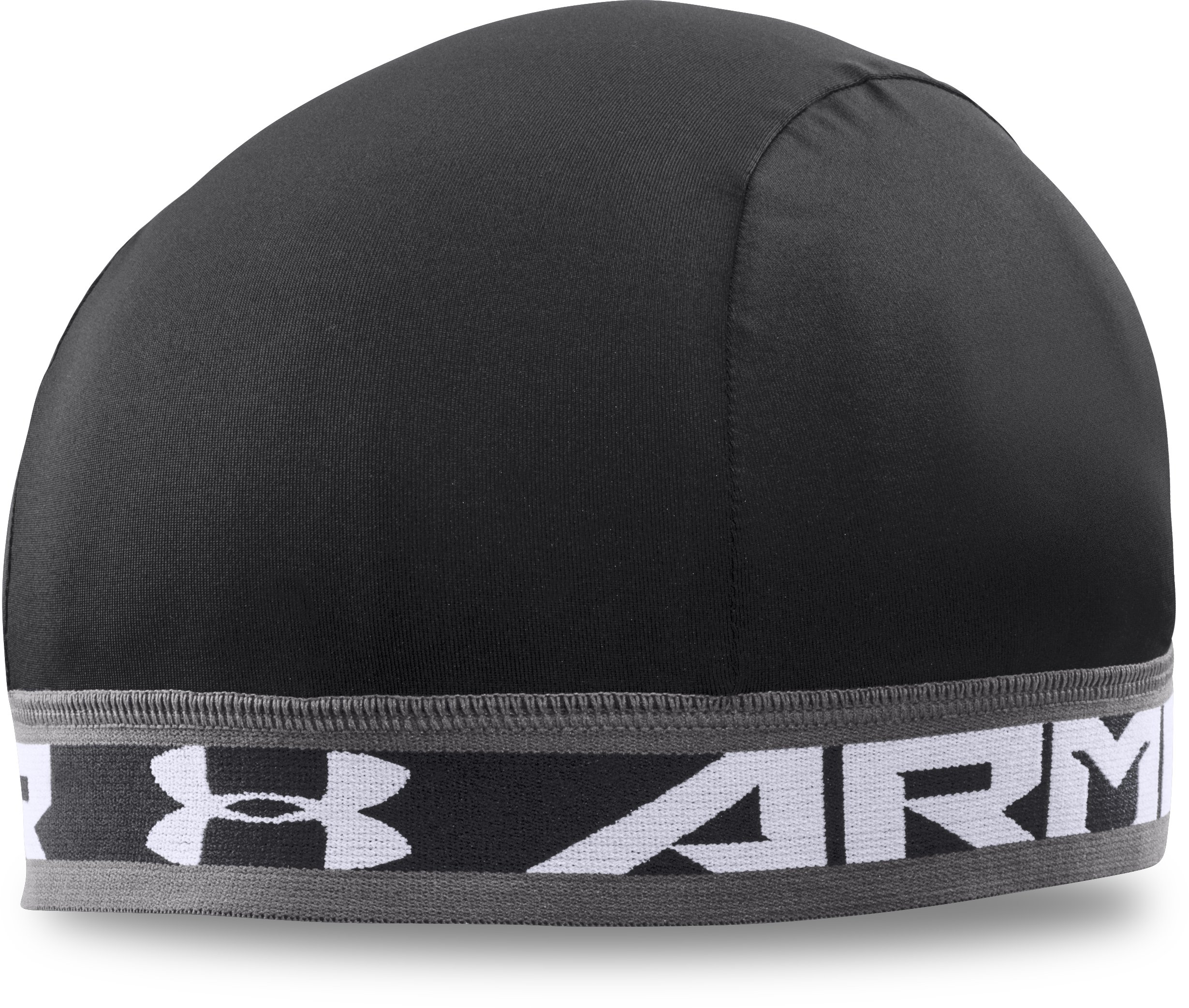 stripe beanies Men's UA Original Skull Cap Fits just right, fits over my ears to keep them warm and never does a drop of sweat get into my eyes....Used for under my hard hat at work     Works great....great customer service