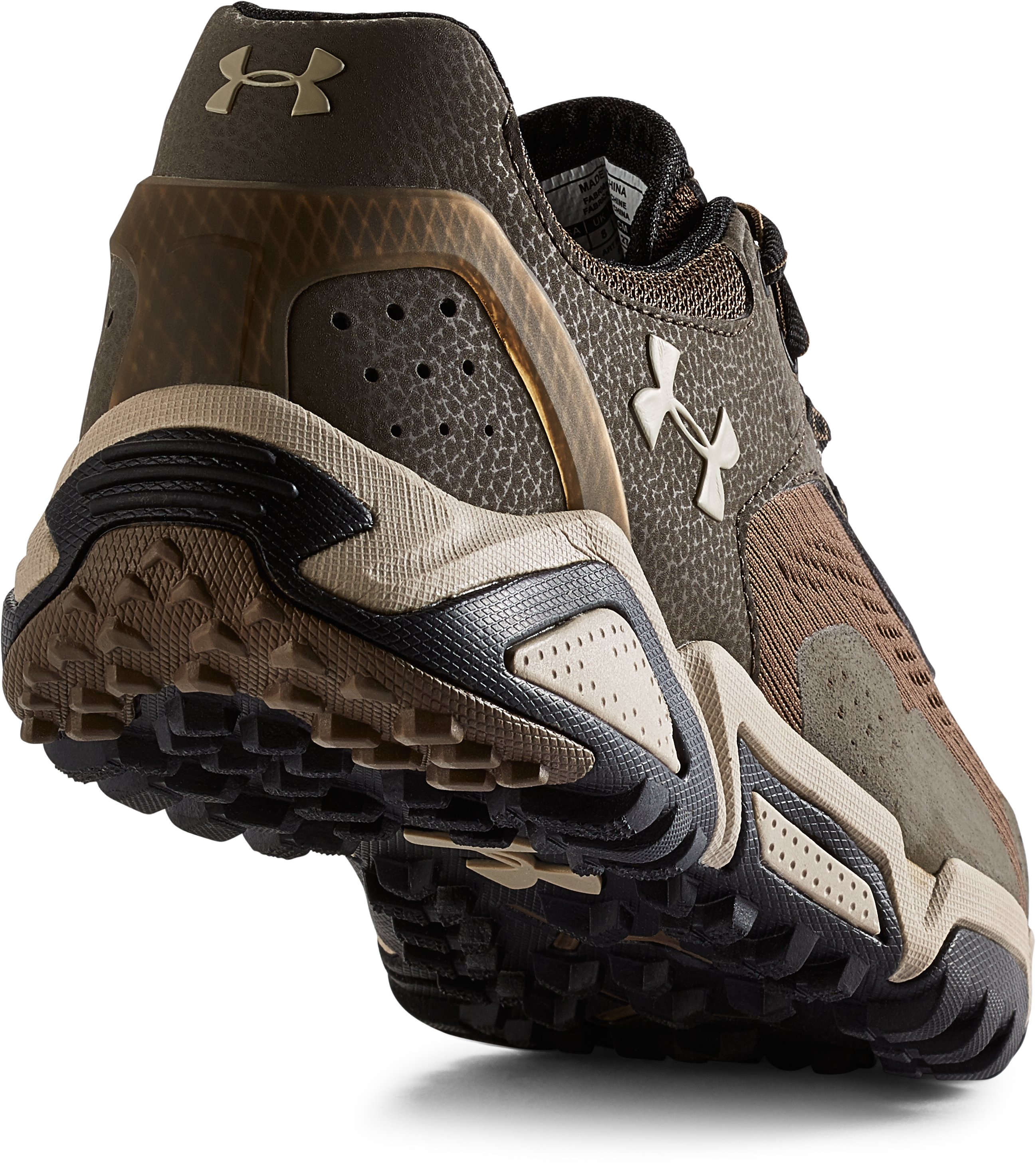 Men's UA Glenrock Low Hiking Boots, OWL BROWN