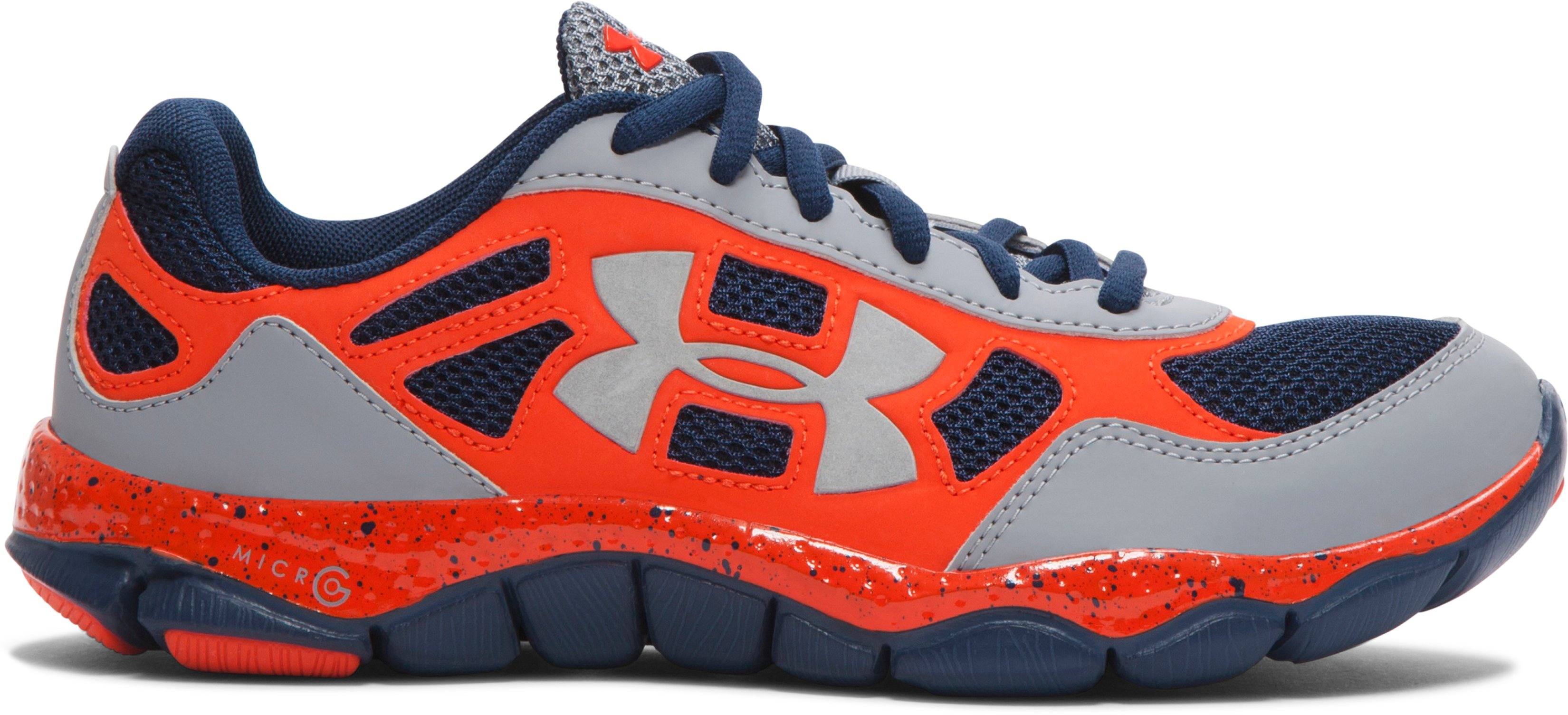 Boys' Grade School UA Micro G® Engage BL Running Shoes, Steel, zoomed image