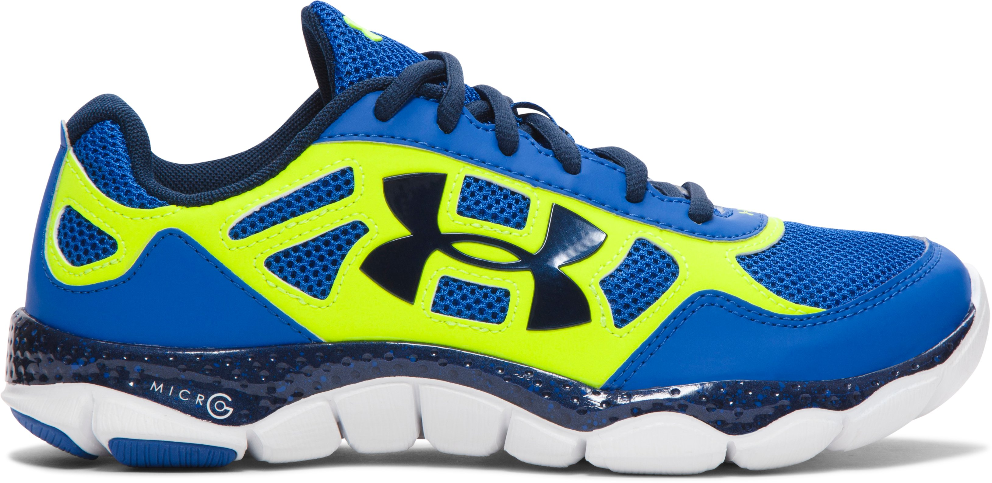 Boys' Grade School UA Micro G® Engage BL Running Shoes, SCATTER