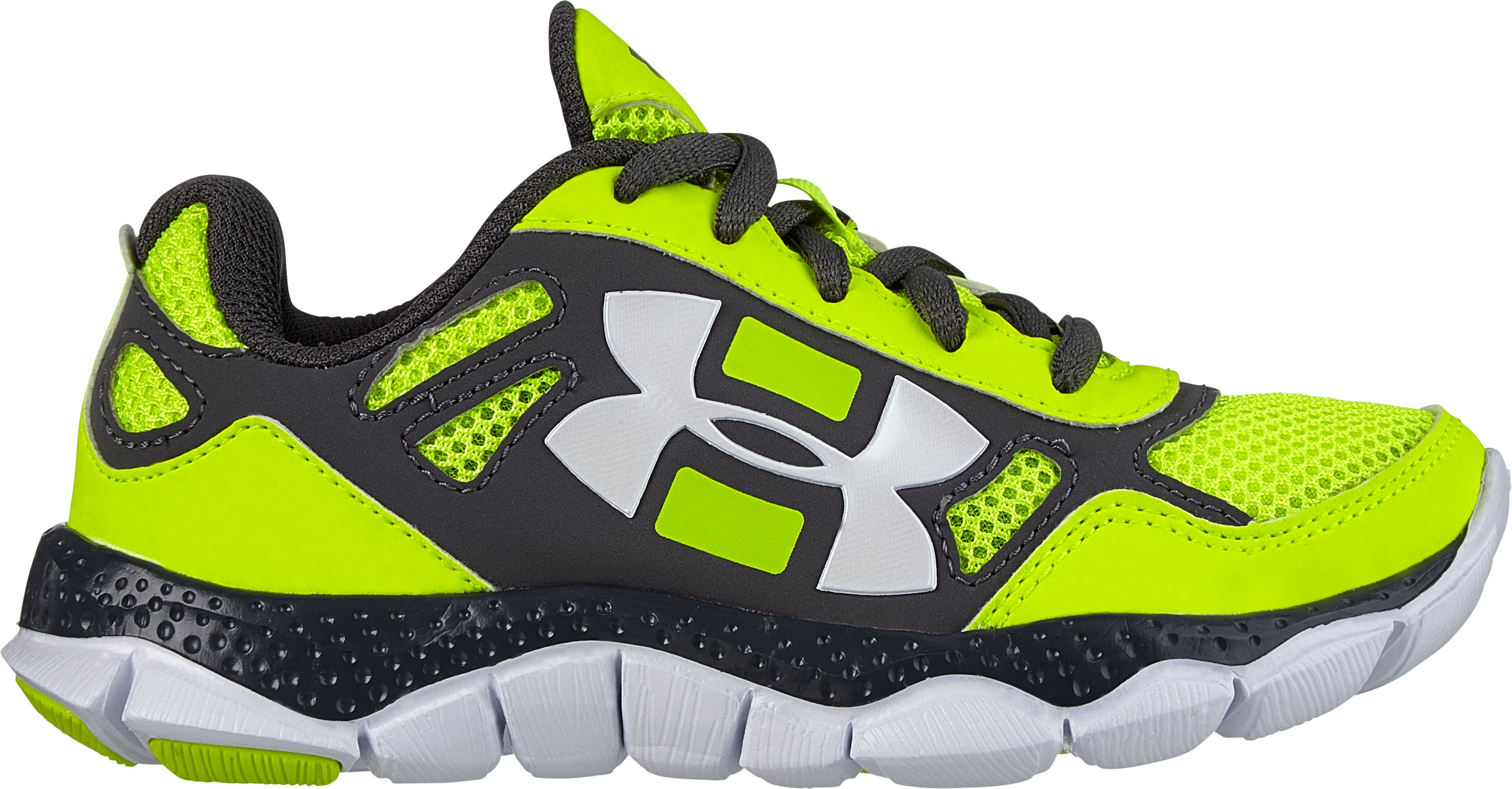 Boys' Pre-School UA Engage BL Shoes, High-Vis Yellow, zoomed image