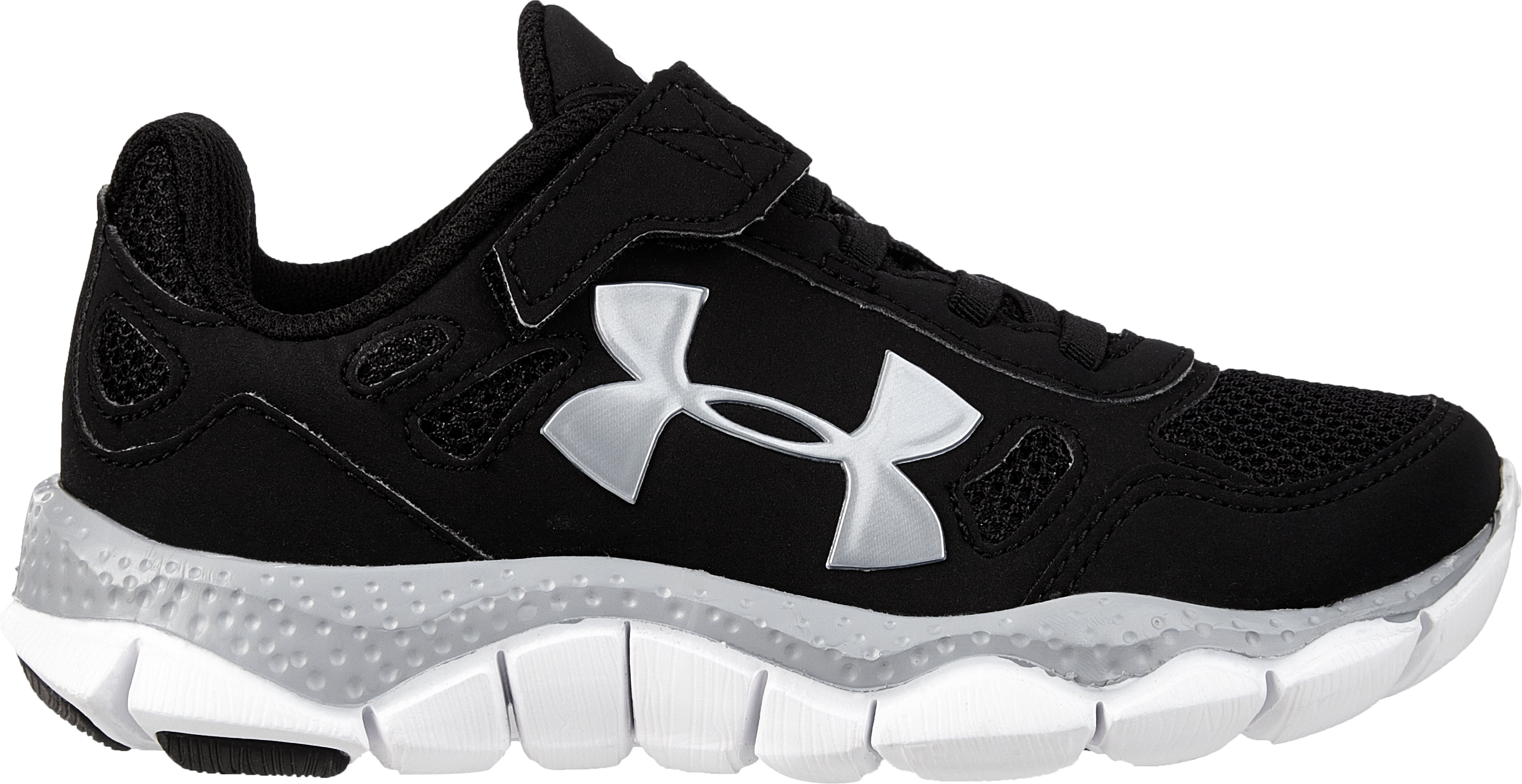 Boys' Pre-School UA Engage BL AC Shoes, Black , zoomed image