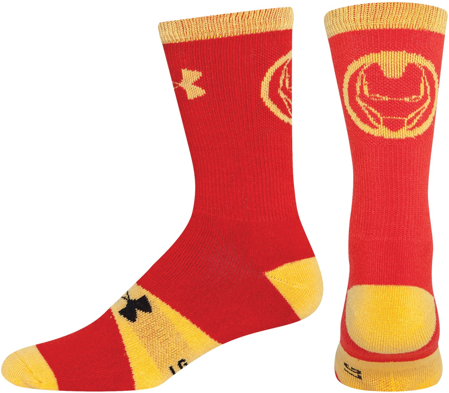 Boys' Under Armour® Alter Ego Iron Man Big Logo Crew Socks, Red, zoomed image