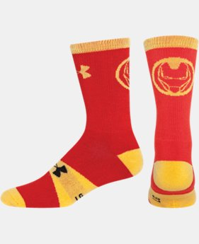 Boys' Under Armour® Alter Ego Iron Man Big Logo Crew Socks