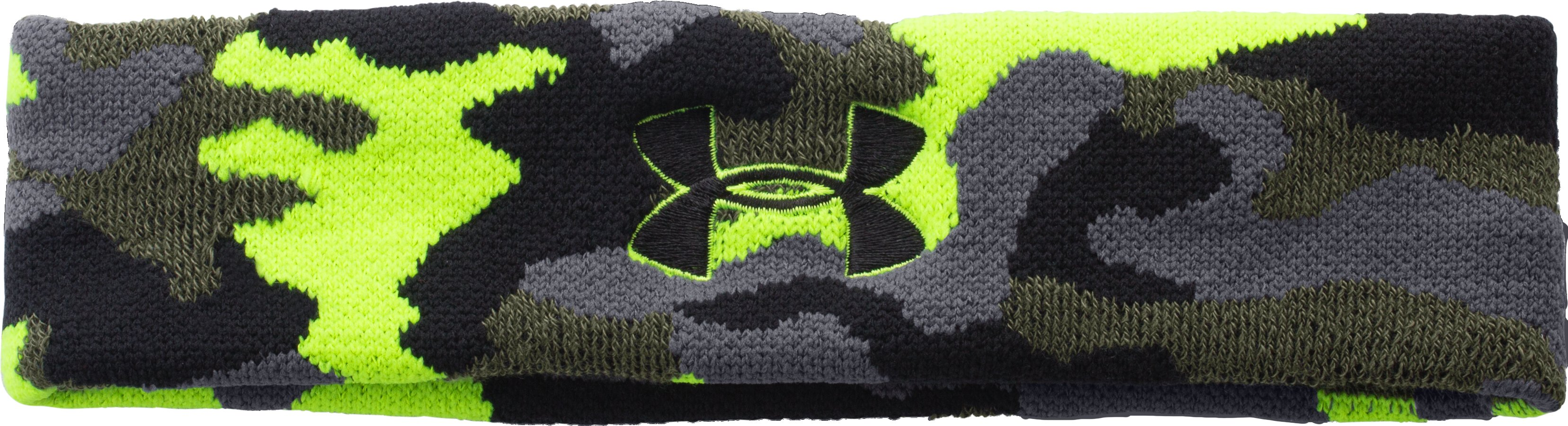 UA Jacquarded Headband, Rough, zoomed image