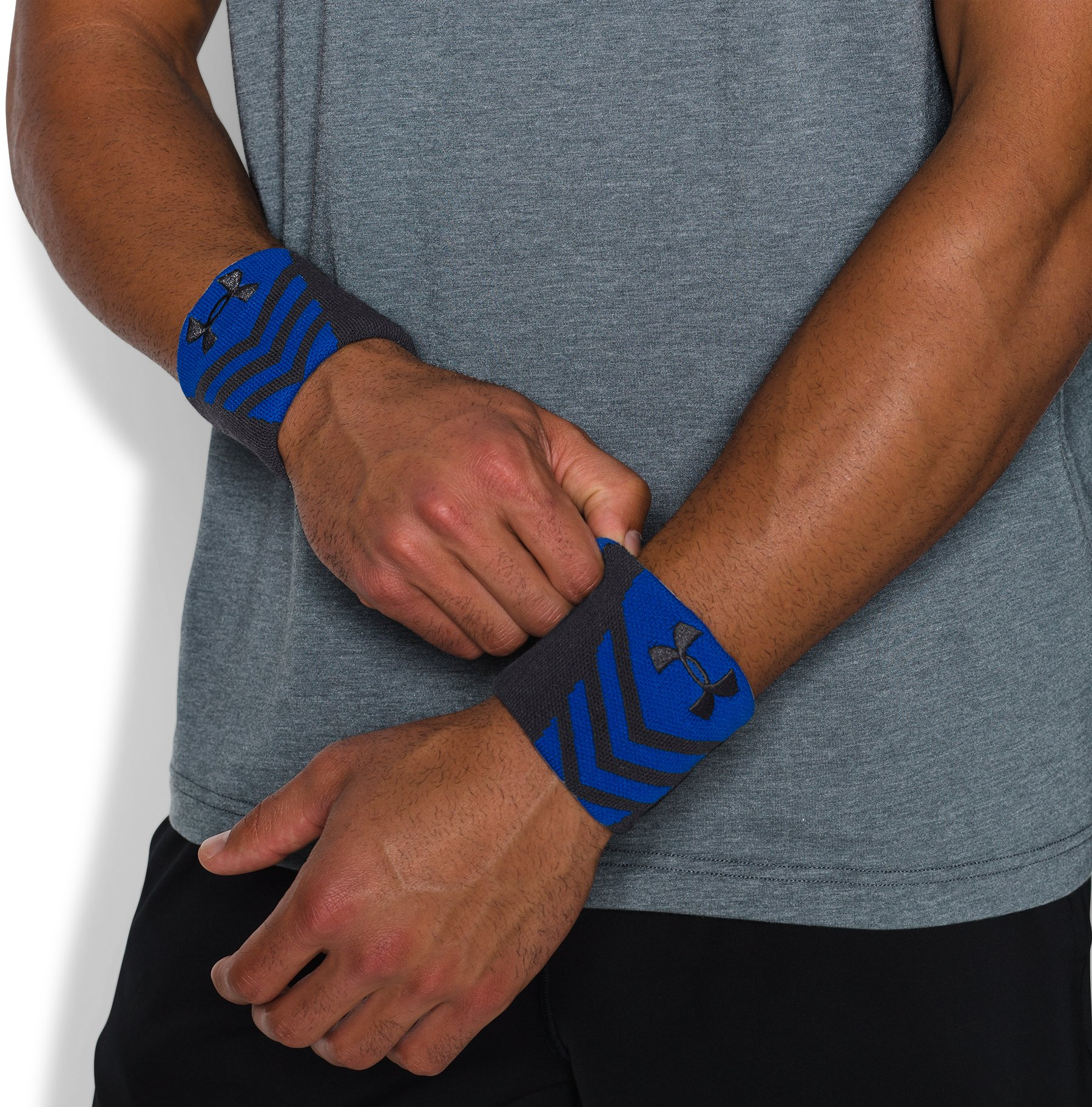 Men's UA Undeniable Wristbands, Academy