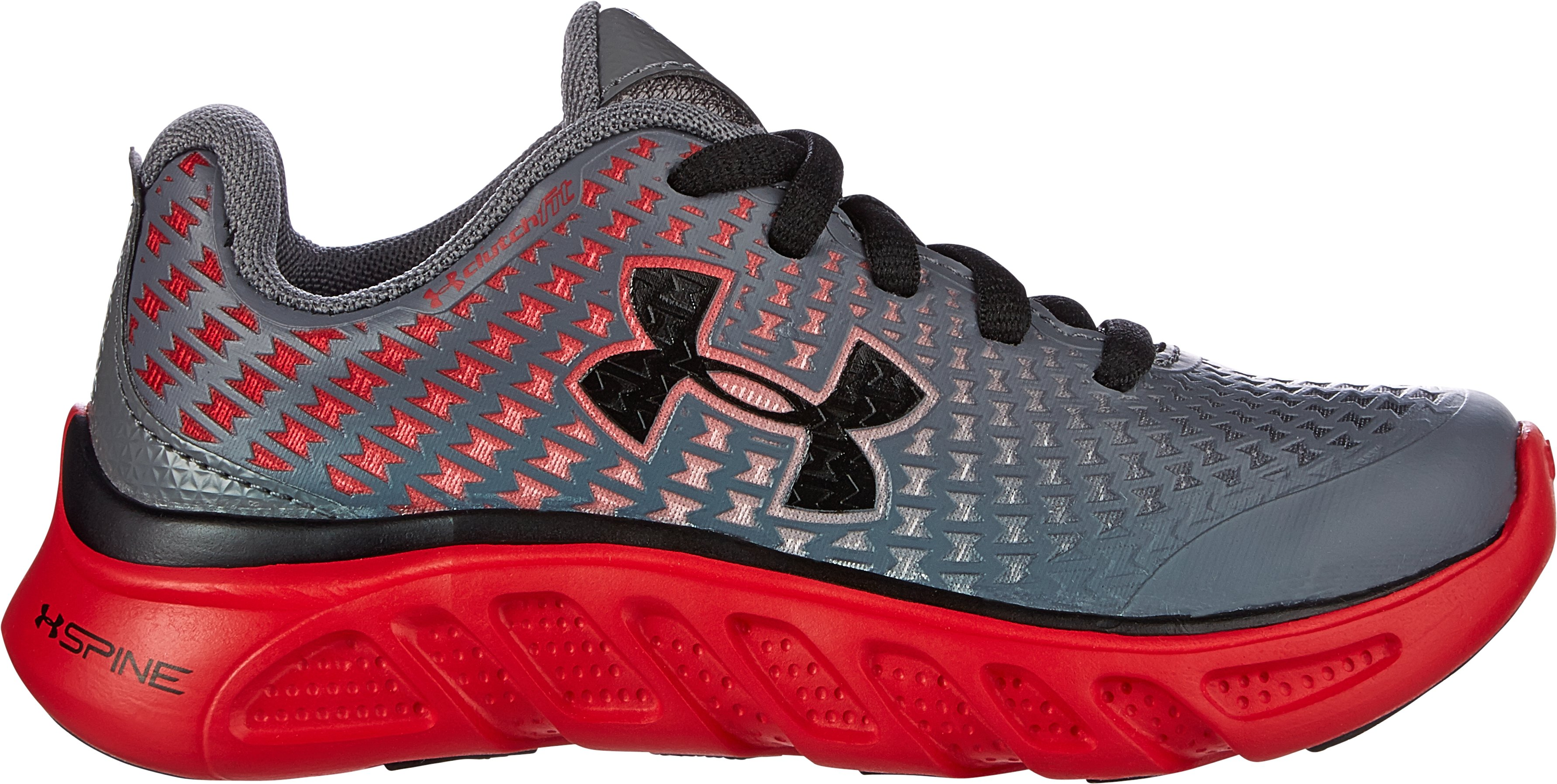 Boys' Pre-School UA Spine™ Clutch Shoes, Graphite, zoomed image
