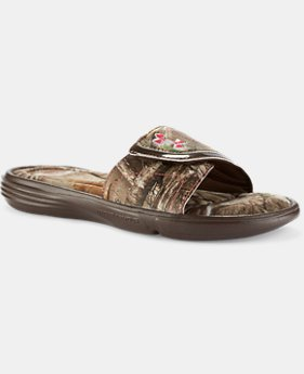 Girls' UA Ignite VII Camo Sandals   $29.99