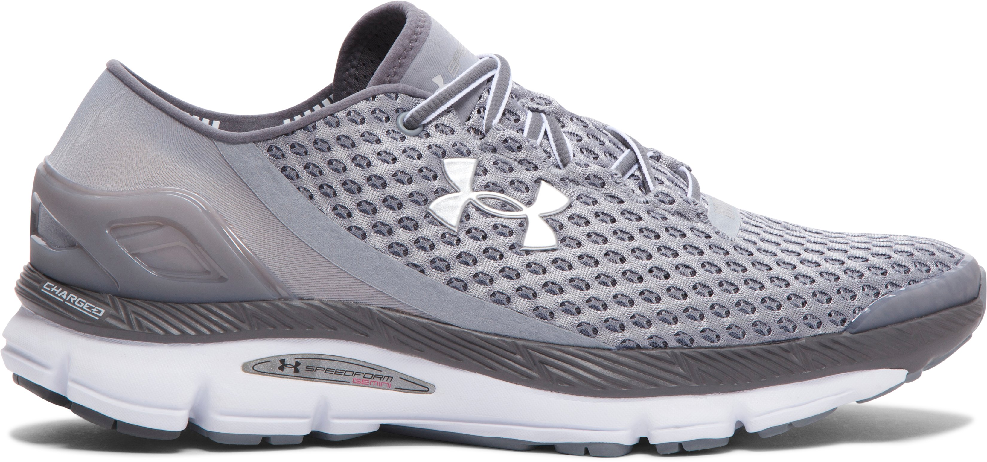 Men's UA Speedform Gemini Running Shoes, Steel,