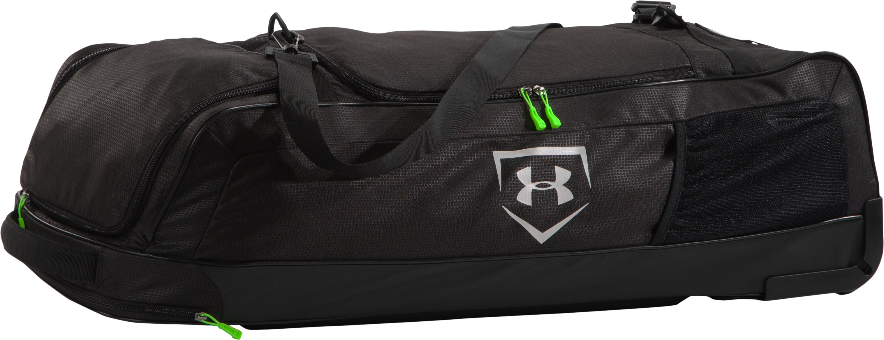 UA Baseball On Deck Roller Bag, Black ,