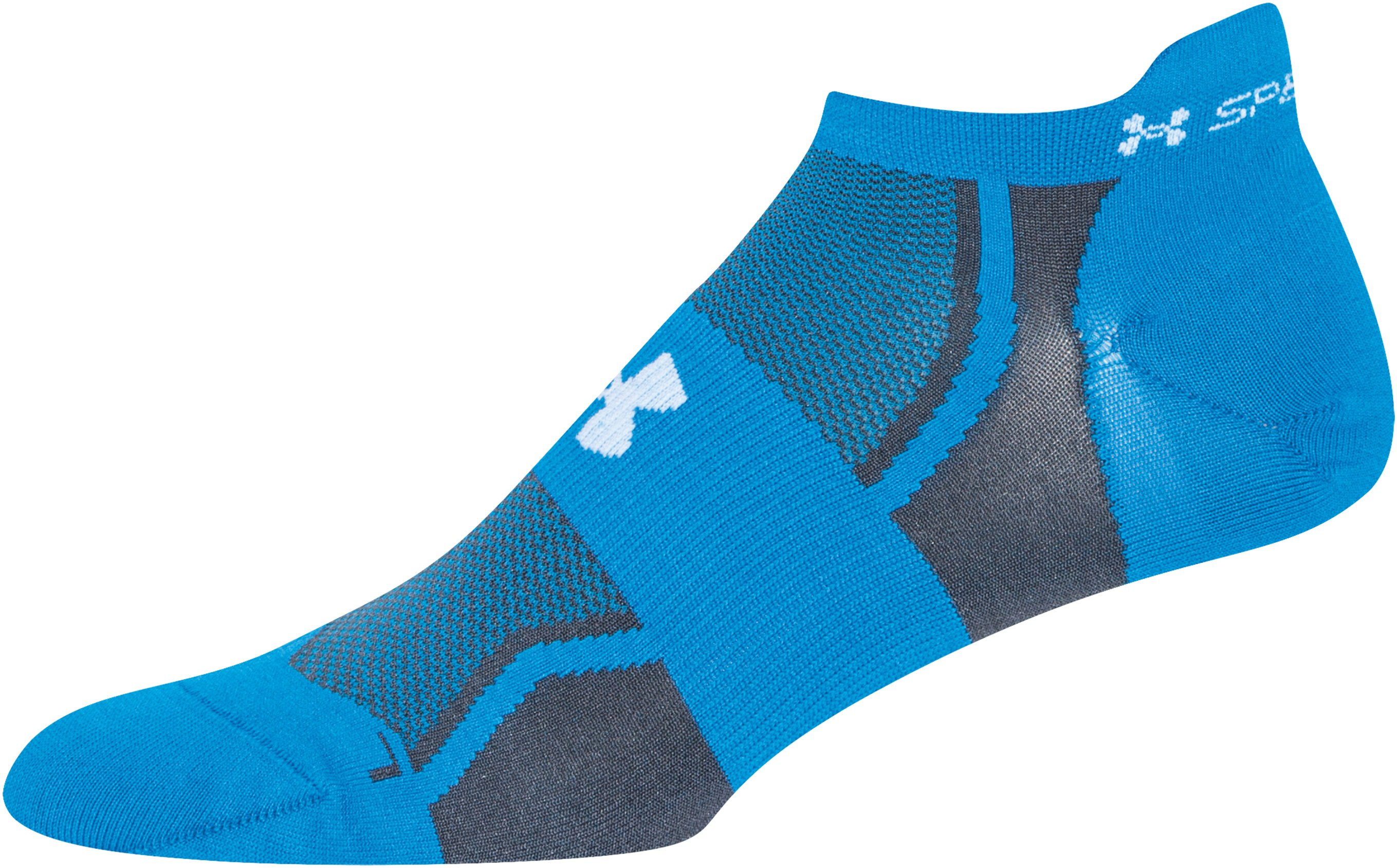 Men's UA SpeedForm® No-Show Socks - 3 for $30, BLUE JET,