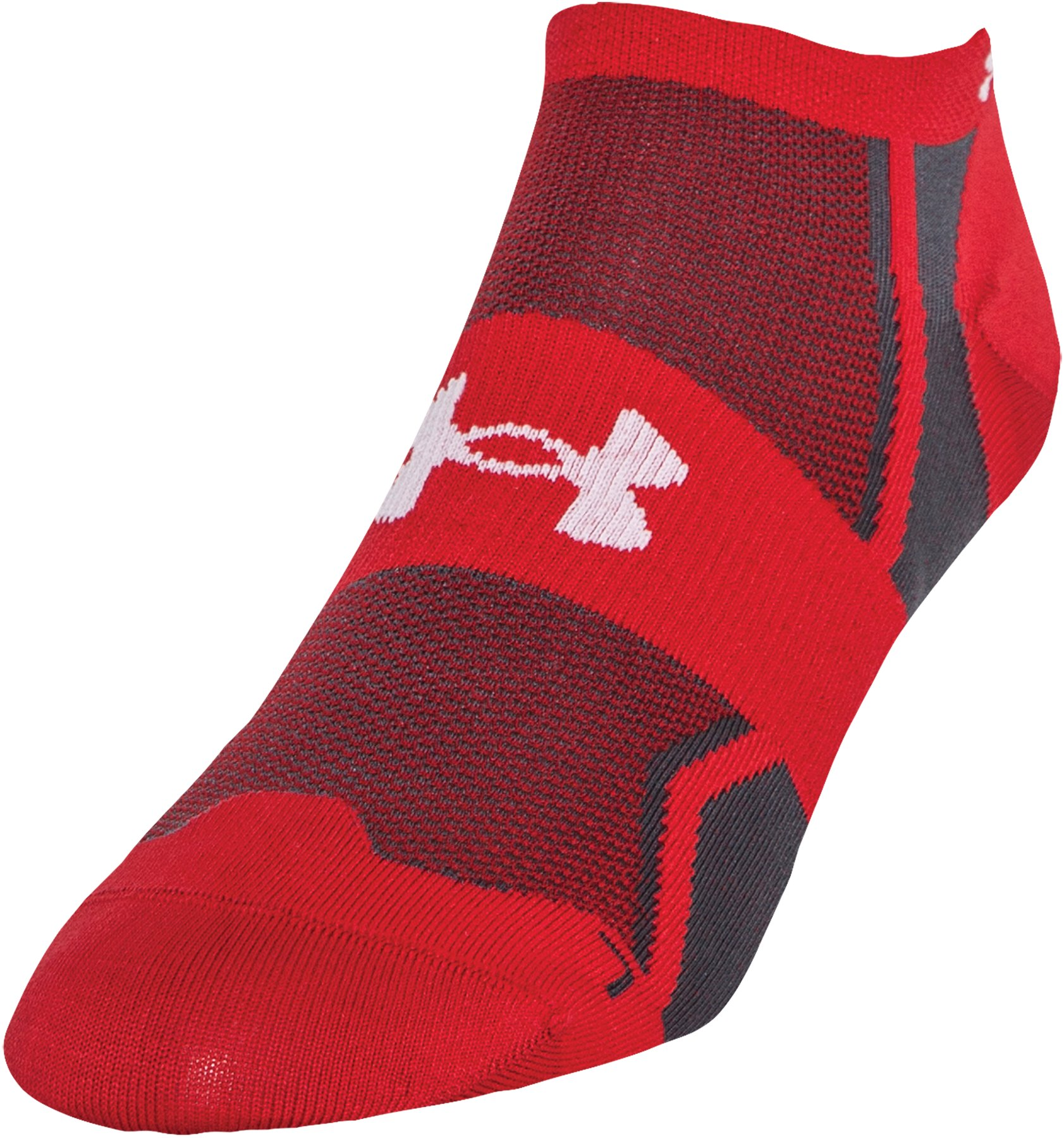 Men's UA SpeedForm® No-Show Socks - 3 for $30, Red, zoomed image