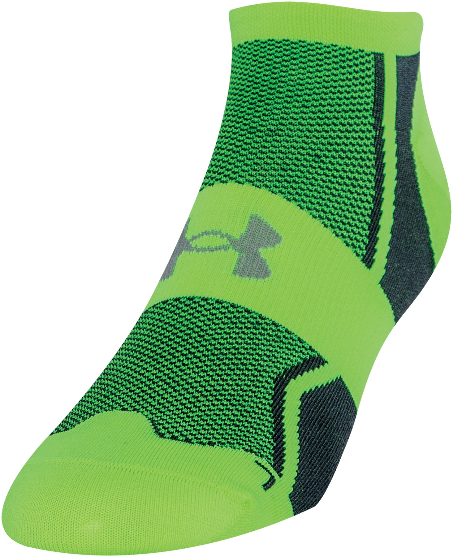 Men's UA SpeedForm® No-Show Socks - 3 for $30, High-Vis Yellow, zoomed image