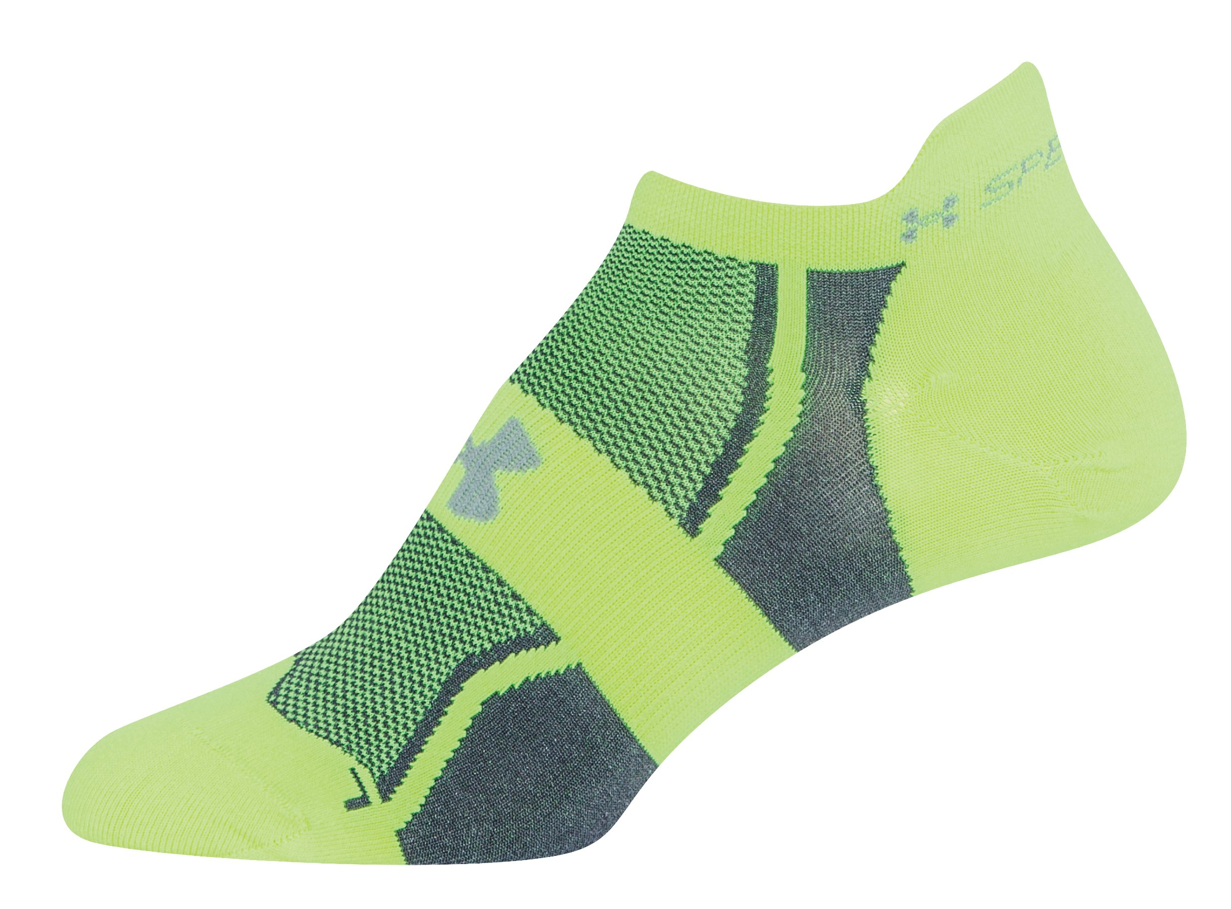 Women's UA SpeedForm® No-Show Socks - 3 for $30, High-Vis Yellow, zoomed image
