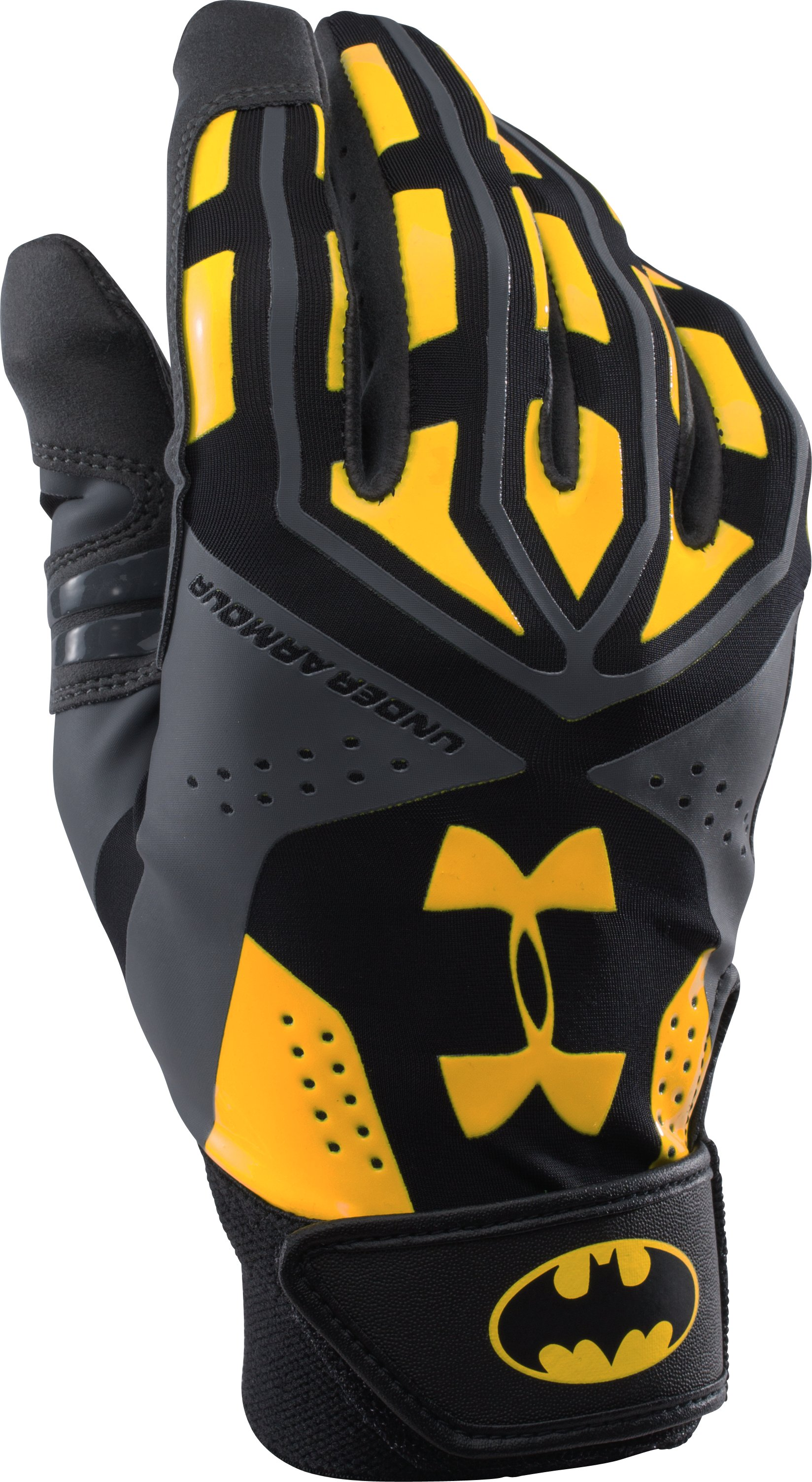 UA Batman Motive Batting Glove, Black ,