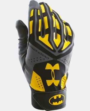 Boys' UA Batman Motive Batting Glove LIMITED TIME: FREE U.S. SHIPPING 1 Color $20.24