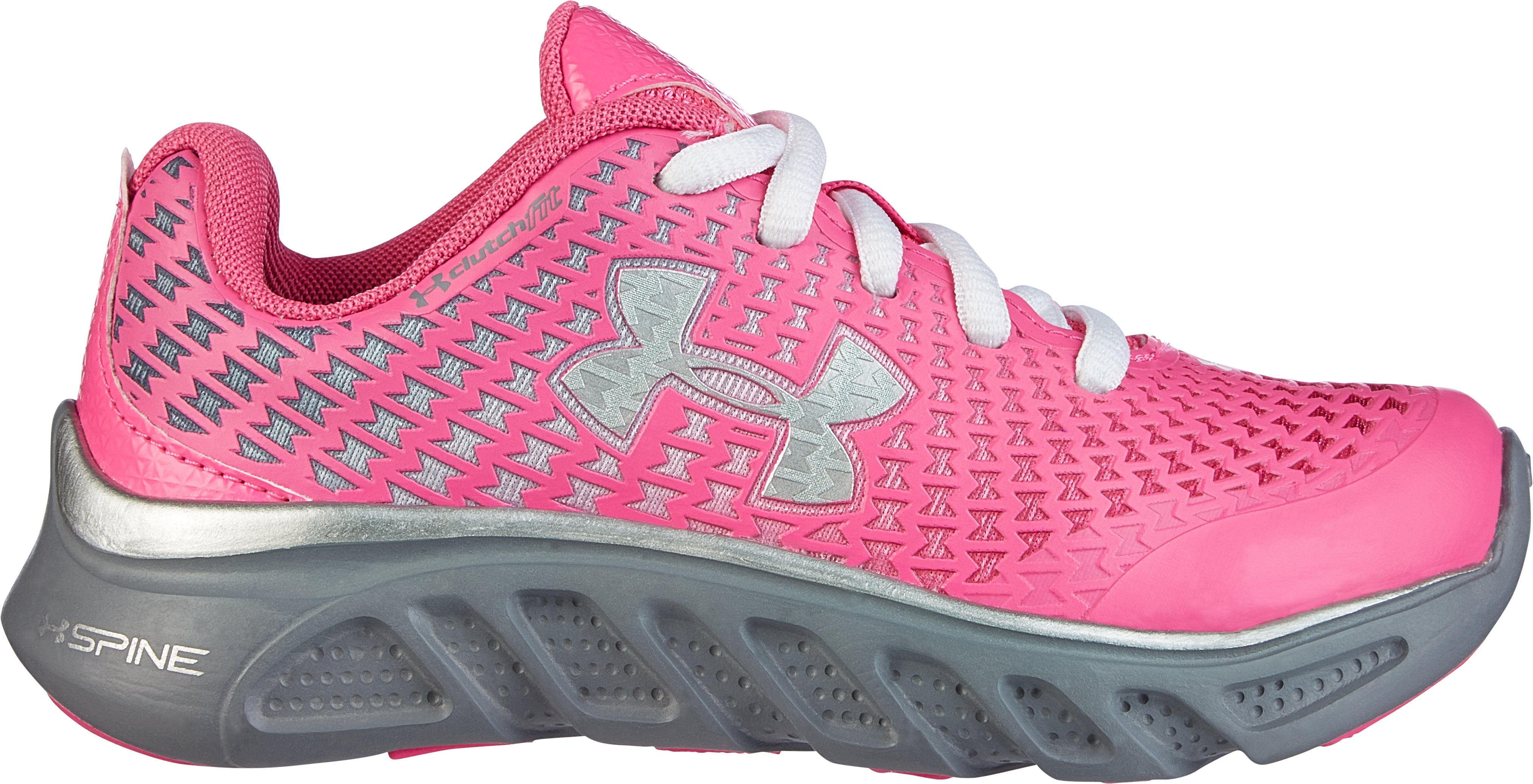 Girls' Pre-School UA Spine™ Clutch Running Shoes, CHAOS