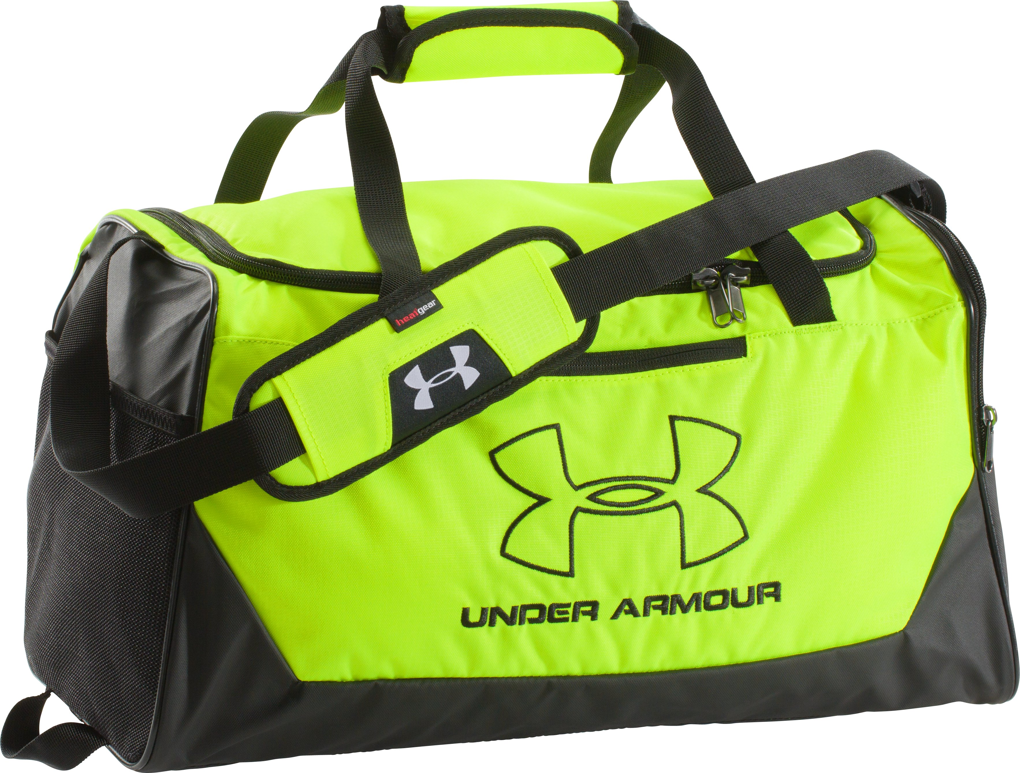 UA Storm Hustle-r Small Duffle, High-Vis Yellow, zoomed image