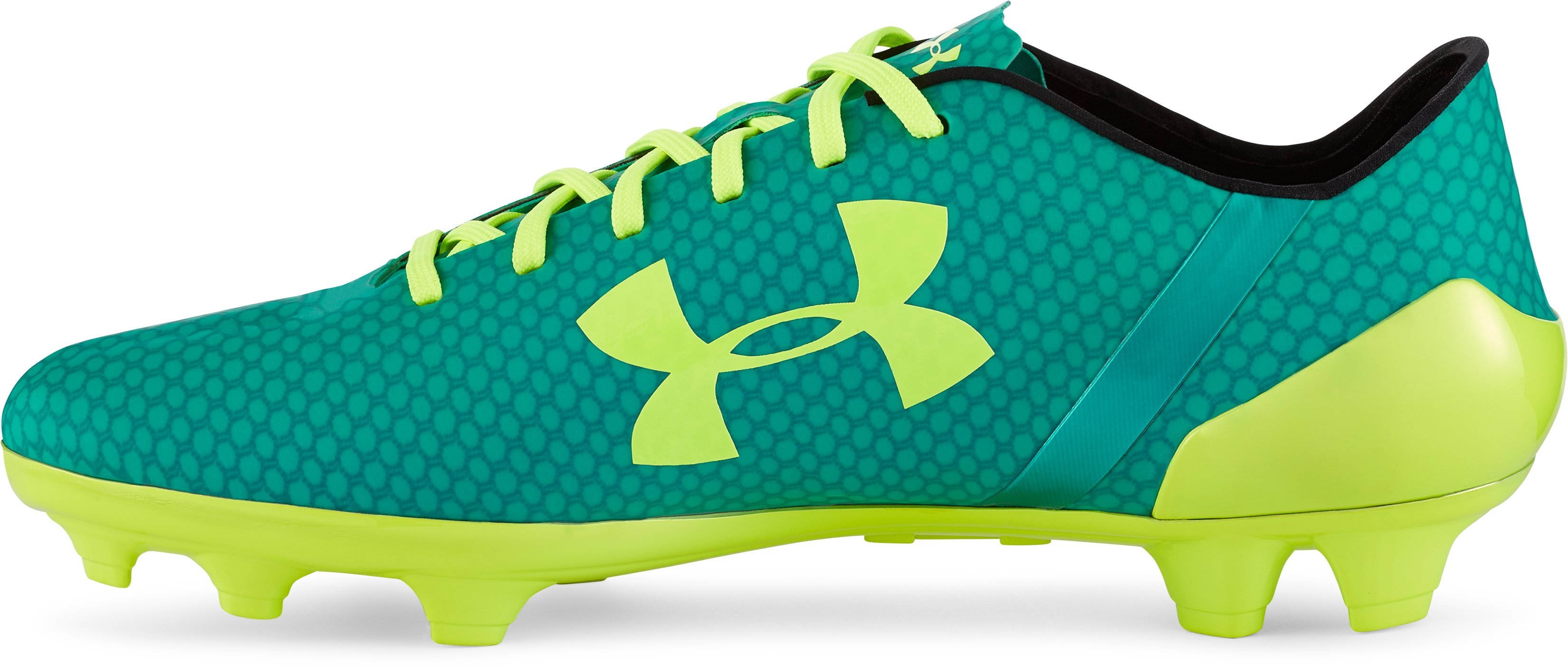 Men's UA SpeedForm™ CRM FG Soccer Cleats, GREEN ENERGY, undefined
